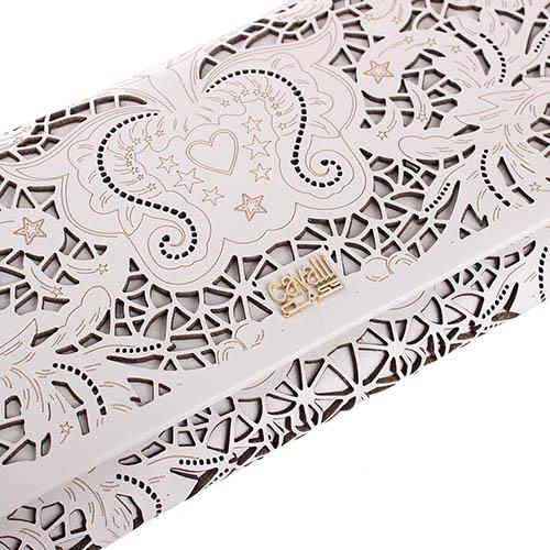 Клатч бежевого цвета Cavalli Class Stardust с декоративной перфорацией, фото