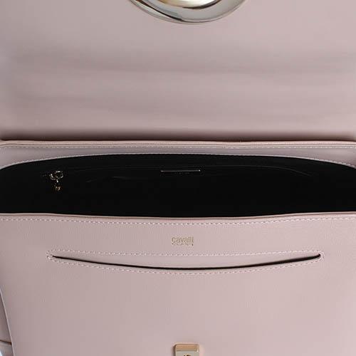 Сумка Cavalli Class Cosmo бежевого цвета из кожи с тиснением Сафьяно, фото