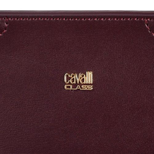 Маленькая сумка трапециевидной формы Cavalli Class Crocodilia из коричневой кожи, фото