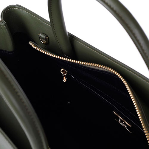 Зеленая кожаная сумка Cavalli Class Panthera с объемным тиснением в виде головы пантеры, фото