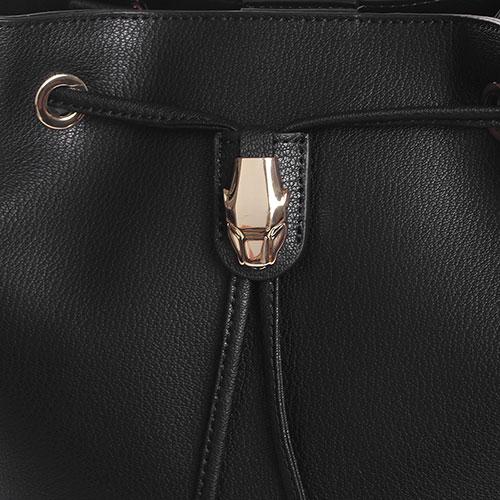 Сумка-мешок Cavalli Class Corinne черного цвета , фото