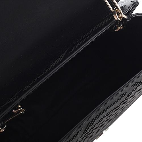 Черная сумка Cavalli Class Audrey с декоративной перфорацией, фото