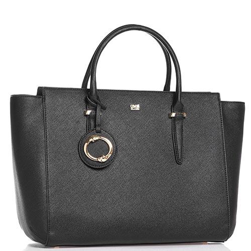 Деловая сумка Cavalli Class Doris Pvc в черном цвете, фото