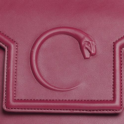 Сумка Cavalli Class Winter Snake 3D красного цвета, фото