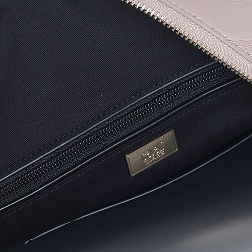 Бежевая сумка Cavalli Class Elda с тиснением, фото