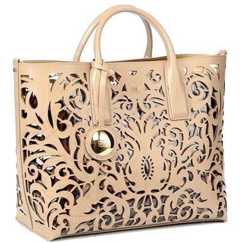 Женская сумка-тоут Cavalli Class Brigitte в бежевом цвете, фото