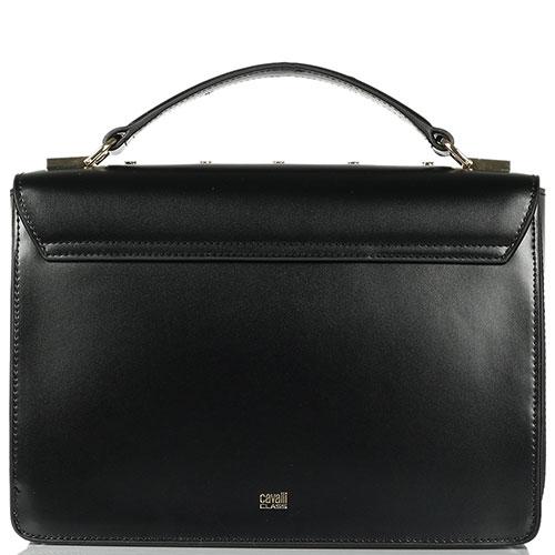 Черная сумка Cavalli Class Yaara из полированной кожи, фото