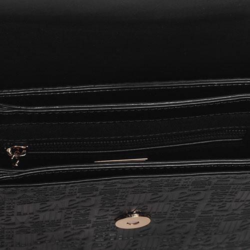 Флеп-бег сумка Cavalli Class Milano RMX с брендовой отделкой, фото