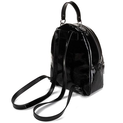 Лаковый рюкзак Coccinelle Alpha Naplak на одно отделение, фото