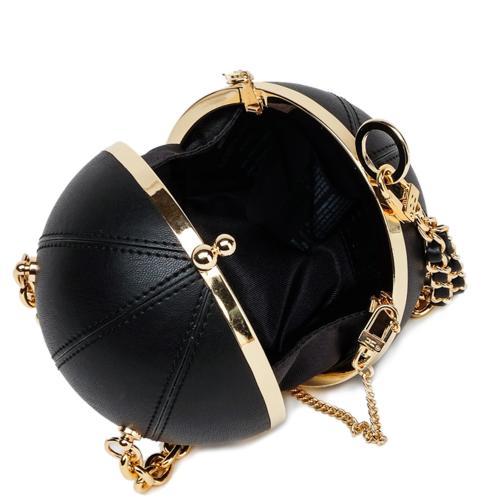 Черный клатч Elisabetta Franchi с якорем, фото