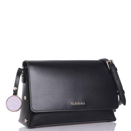 Маленькая сумка Baldinini Alice из черной гладкой кожи, фото