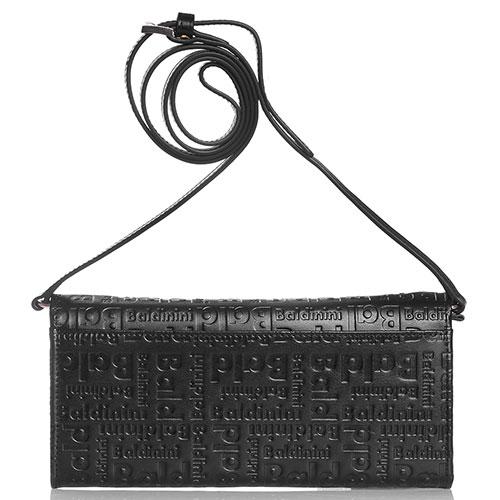 Черный клатч Baldinini Greta с фирменным тиснением, фото