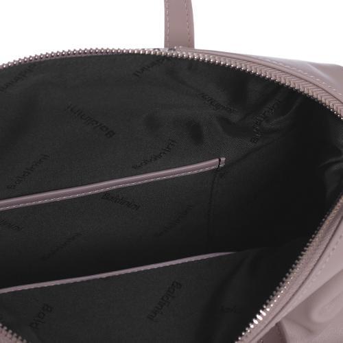 Бежевая сумка Baldinini Ilary с тиснением под рептилию, фото