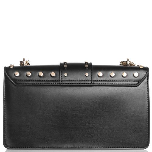 Черная сумка Baldinini Dorothy с заклепками, фото