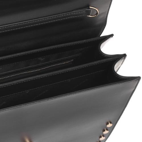 Сумка-портфель Baldinini Dorothy из гладкой черной кожи, фото
