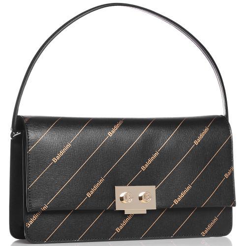 Черная сумка Baldinini Lizzie с логотипом, фото