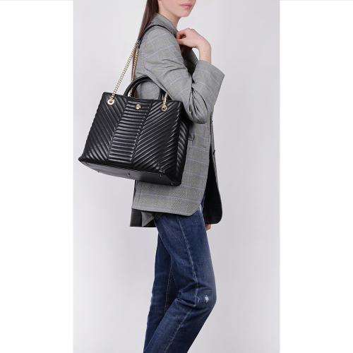 Черная сумка Baldinini Tracy стеганая, фото