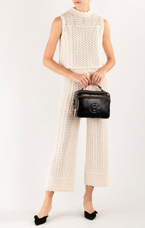 Черная сумка Baldinini Ellen из полированной кожи, фото