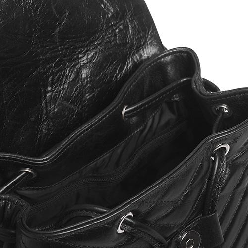 Рюкзак Rebecca Minkoff Edie Flap Backpack из кожи с обработкой, фото