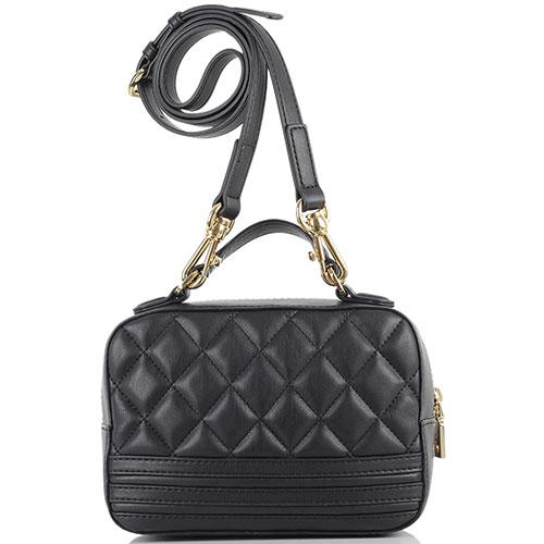 a12d11a3a722 ☆ Стеганная прямоугольная сумка Love Moschino черного цвета купить ...