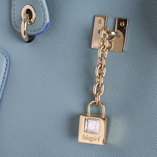 Голубая сумка Blugirl Blumarine с декоративным замочком, фото