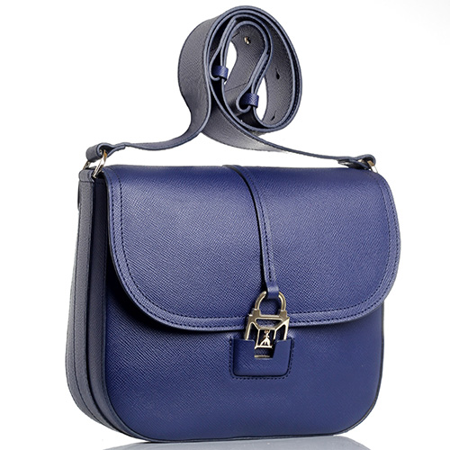 Сумка Patrizia Pepe синего цвета с регулируемым ремнем, фото