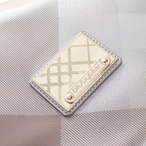 Серебристая клетчатая сумка Byblos Blu, фото