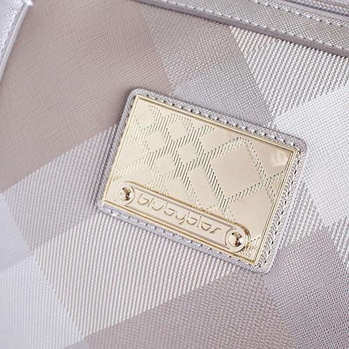 Сумка-шопер Byblos Blu серебристого цвета, фото