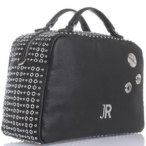 Сумка John Richmond Janet Jackson черного цвета декорированная заклепками, фото