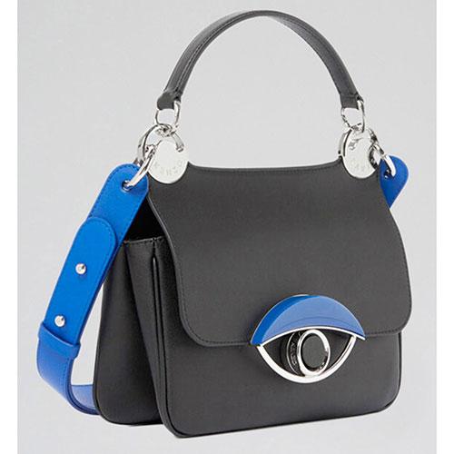 Черная сумка Kenzo с синими вставками, фото