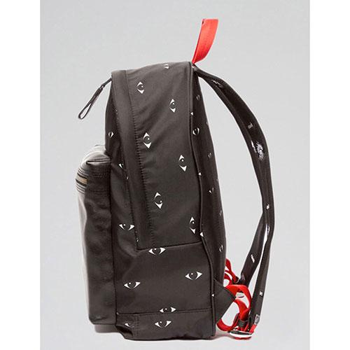 Черный рюкзак Kenzo с принтом в виде глаз, фото