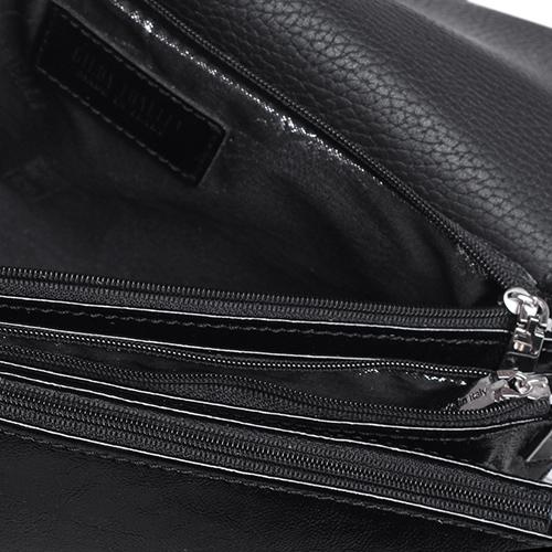Лаковая сумка Gilda Tonelli с металлической шильдой, фото