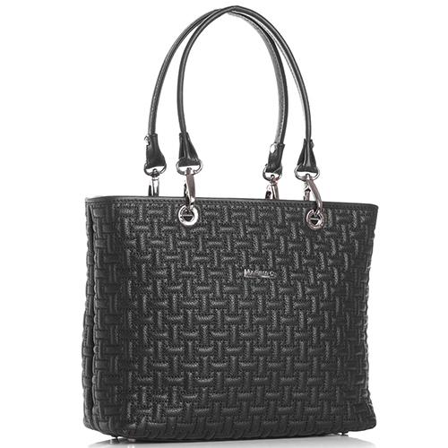 Черная сумка Marina Creazioni со съемными ручками, фото