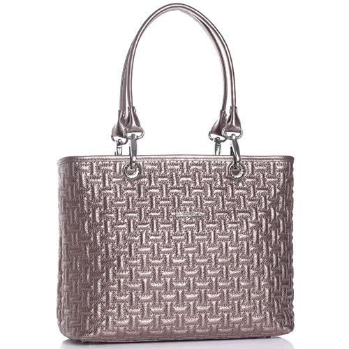 Стеганая сумка Marina Creazioni бронзового цвета, фото