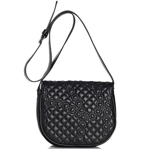 Стеганая сумка Di Gregorio черного цвета, фото