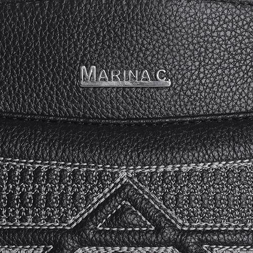 Черная сумка Marina Creazioni трапециевидной формы, фото