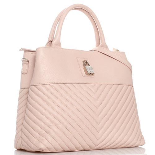 Стеганая сумка Marina Creazioni с декором-замком, фото