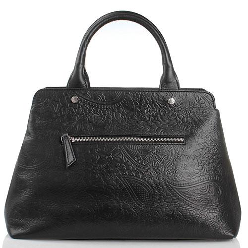 Черная сумка из тисненной кожи Marina Creazioni, фото