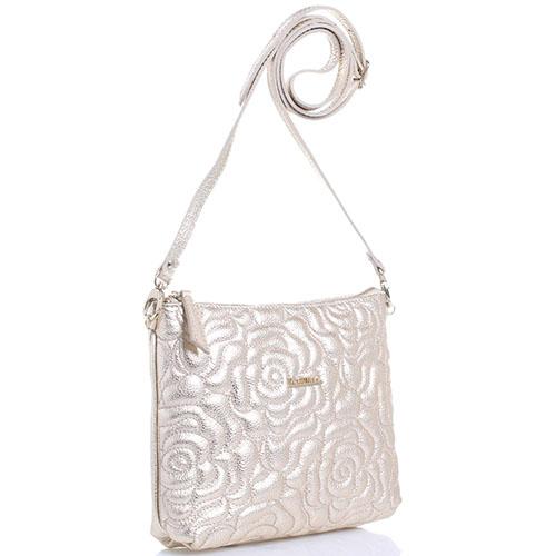 Стеганая сумка Marina Creazioni золотистого цвета, фото