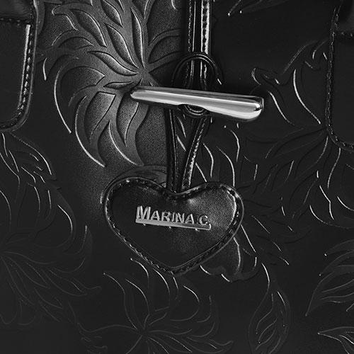 Сумка-тоут Marina Creazioni с узором черного цвета, фото