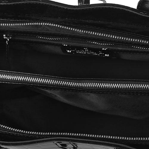 Сумка Marina Creazioni с тиснением кроко в черном цвете, фото