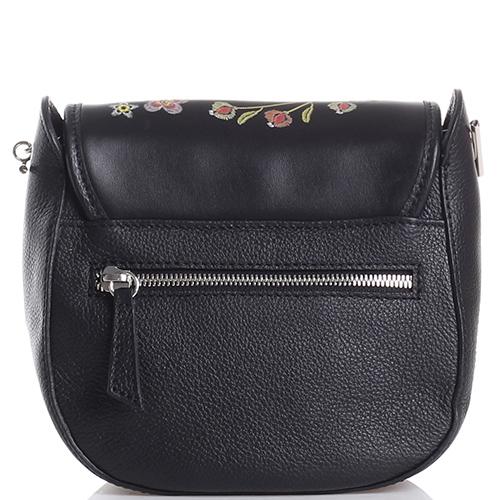 Черная сумка Marina Creazioni с тиснением на клапане, фото