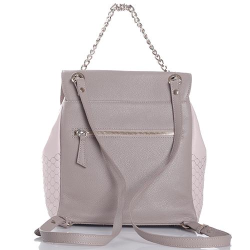 Бежевый рюкзак Marina Creazion из зернистой кожи, фото