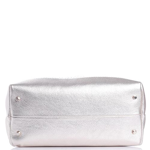 Белая сумка Marina Creazioni с фигурной стежкой, фото