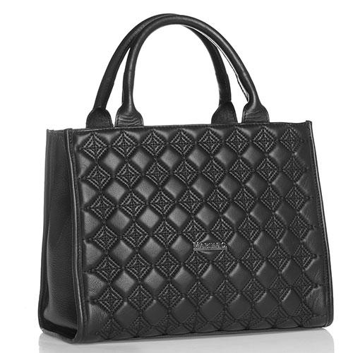 Черная сумка-тоут Marina Creazioni с вышивкой, фото
