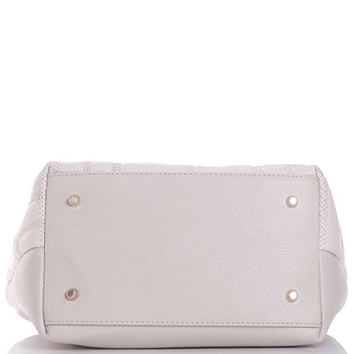 Бежевая сумка Marina Creazioni с флористической вышивкой, фото