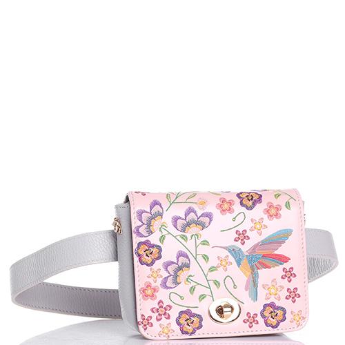 Поясная сумка-клатч Marina Creazioni серого цвета, фото