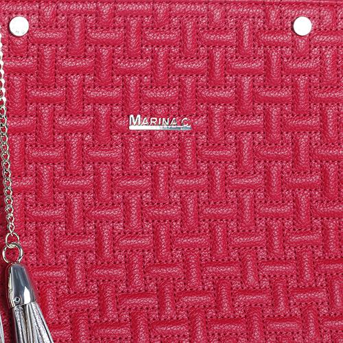 Красная сумка Marina Creazioni с золотистыми кистями, фото