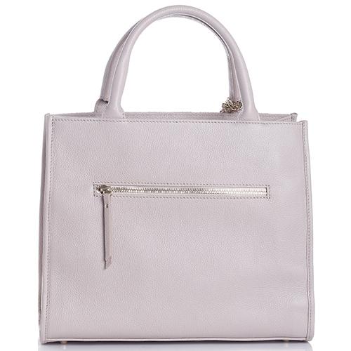 Светло-коричневая сумка Marina Creazioni с декором-кистями, фото