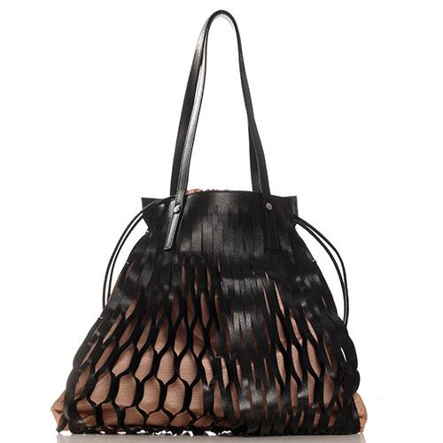 Черная сумка Marina Creazioni со съмным внутренним отделением, фото